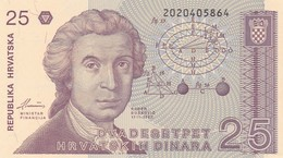 CROAZIA 25 DINARA 1991   FDS - Croatie