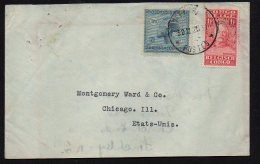 CONGO - VLOORS + STANLEY - MATADI 1929 Vers USA -  TB - BB4