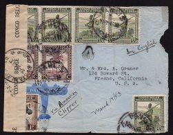 CONGO  - PALMIERS - GUERRE 1943  -PAULIS Vers USA - Bande Censure Aa  Et Censeur 4 De Stanleyville - CLIPPER - BB4
