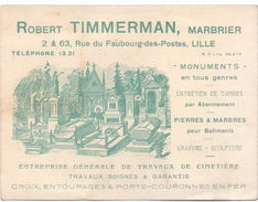 Pub Reclame Carte - Robert Timmerman - Marbrier - Lille - Publicidad