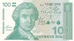 CROAZIA 100 DINARA 1991   FDS - Croatie