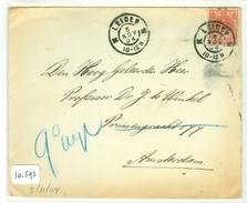 BRIEFOMSLAG Uit 1904 Gelopen Van LEIDEN Aan Prof. Dr. J. Te WINKEL Te AMSTERDAM NVPH Nr 60 (10.593) - Periode 1891-1948 (Wilhelmina)