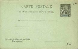 DIEGO SUAREZ - Entier Sur Carte Réponse Vierge Au Type Groupe - P21135 - Covers & Documents