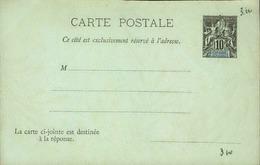 DIEGO SUAREZ - Entier Sur Carte Vierge Au Type Groupe - P21136 - Covers & Documents
