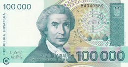CROAZIA 100000 DINARA 1993   FDS - Croatia
