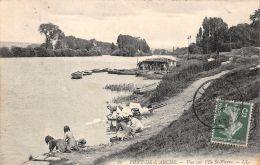 Pont De L'Arche (27) - Vue Sur L'Ile St Pierre - Laveuses - Unclassified