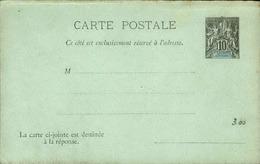NOUVELLE CALEDONIE - Entier Sur Carte Réponse Vierge Au Type Groupe - P21138 - Neukaledonien