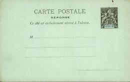NOSSI-BE - Entier Sur Première Partie D'une Carte Avec Réponse Vierge Au Type Groupe - P21141 - Lettres & Documents
