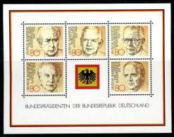 A00-18) BRD - Michel Block 18 = 1156 / 1160 - ** Postfrisch - Bundespräsidenten - [7] West-Duitsland