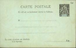 NOSSI-BE - Entier Sur Seconde Partie D'une Carte Avec Réponse Vierge Au Type Groupe - P21142 - Lettres & Documents