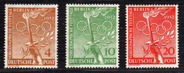 1952 - Alemania - Bérlin - Mi 88 - 90 - MNH - AL-44 - Adheerencias