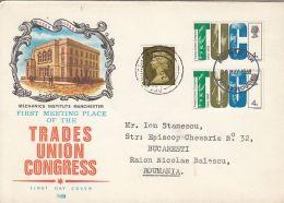 TRADE UNION CONGRESS, COVER FDC, 1968, UK - 1952-1971 Dezimalausgaben (Vorläufer)