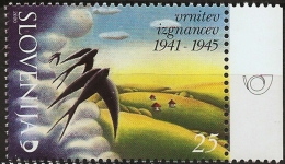 Slovenia 2000 Swallows, Return Of Displaced People World War II,  1 Value MNH
