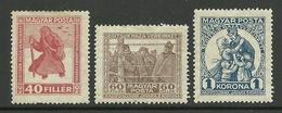 HUNGARY Ungarn 1920 Michel 312 - 314 * - Hongarije