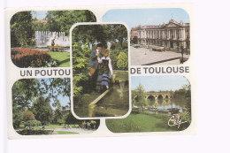 Cpsm ,    Un Poutou De Toulouse , Vues Multiples ,   Voyagé - Toulouse
