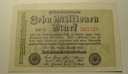 1923 - Allemagne - Germany - Weimar - ZEHN MILLIONEN MARK, Berlin, Den 22 August 1923, DV-5 595529 - [ 3] 1918-1933 : Weimar Republic