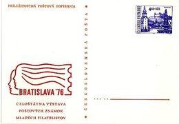 Czechoslovakia 1976 Young Philatelist Stamp Exhibition In Bratislava - Cartes Postales