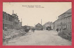 Feignies - Guerre Mondiale 1914-18 - Place De La Gare - 1922 ( Voir Verso ) - Feignies