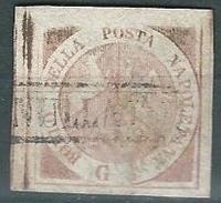 Napoli, 1858 - Sassone 1 - Usato - Certificato Raybaudi (sass.E,600) - Napoli