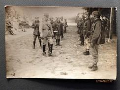 PHOTOGRAPHIE Originale - Groupe De Militaires -Souvenir De La Revue Du Colonel Le 3/06/1924 Pour Le Départ à BITCHE (57) - Militaria