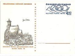 Czechoslovakia 1976 Stamp Exhibition In Kutna Hora - Ansichtskarten