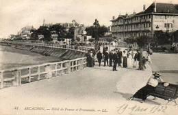 CPA - ARCACHON (33) - Aspect De L'Hôtel De France En 1922 - Arcachon