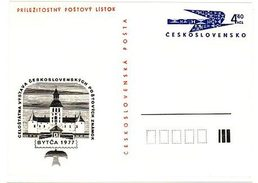 Czechoslovakia 1977 Stamp Exhibition In Bytca - Cartes Postales