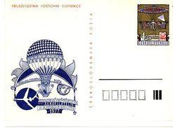 Czechoslovakia 1977 Aerophilately Exhibition In Hradec Kralove-Balloon And Airplane - Ansichtskarten