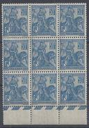 FR - 1929 - N° 257 - 50 Ct Jeanne D'Arc En Bloc De 9 - Neufs - XX - MNH - 2 Scans - TB - - Nuovi