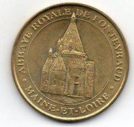 Très Rare: Médaille De La Monnaie De Paris   Abbaye Royale De FONTEVRAUD   2000 - 2000