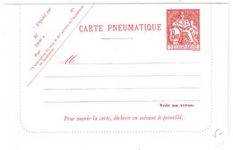 CARTE-LETTRE PNEUMATIQUE (ENTIER POSTAL) Au TYPE CHAPLAIN 8F40 NEUF - Entiers Postaux