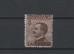 1907-12 Levante La Canea 40 C. MLH - 11. Oficina De Extranjeros