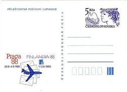 Czechoslovakia 1988 World Stamp Exhibition PRAGA - Set Of 6 Cards - Ansichtskarten