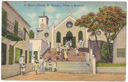 St Peter's Church, St George's, Oldest In Bermuda - Yankee Store & Bermuda Drug Co - Postmark 1941 - Postcards