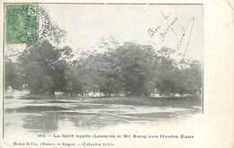 A-17-1175 :   LAOS LE ME KONG AUX HAUTES EAUX. INONDATIONS. CRUES. LA FORET NOYEE. - Laos