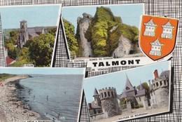 Carte Vers 1970 TALMONT / MULTIVUES : Grève De Bourgenay , église,chateau - Talmont Saint Hilaire