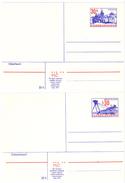 Czechoslovakia 1974 Design Prague And Bratislava Stationery Cards - Ansichtskarten