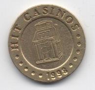 Jeton De Slot Machine à Sou : Hit Casinos 1998 Nova Gorica Slovénie (Diamètre 21 Mm) - Casino
