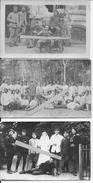 1917 Les Sables D'olonnes Zone De Repos Du 8ème Chasseurs à Pied Instruction à La Mitrailleuse Hôpital 3cartes Photo Ww1 - War, Military