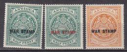 PGL DC0155 - BRITISH COLONIES ANTIGUA Yv N°38/40 * - 1858-1960 Colonia Británica