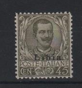 1917-18 Libia 45 C. Oliva Floreale MNH Ottima Centratura - Libya