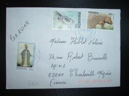 LETTRE Par AVION Pour La FRANCE TP PORC-EPIC 150 FRW + ELANION BLANC 20F+ CARDINAL LAVIGERIE 5 FRW OBL. BLEUE 20 04 2004