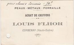 Carte Commerciale Louis FLHOR / Corbenay 70 / Chiffons Peaux Ferraille - Altri