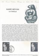 DOCUMENT 1982 LA FAMILLE DE MARC BOYAN - Documents Of Postal Services