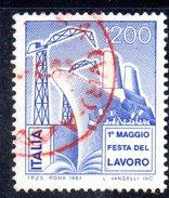 XP1690 - REPUBBLICA 1983, Serie Usata . LAVORO Con Bell'annullo Rosso - 6. 1946-.. Repubblica