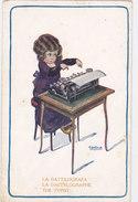 CARD BERTIGLIA  MESTIERE IMPIEGATA  LA DACTILOGRAFA -THE TYPIST LA DACTYLOGRAPHE  FP-N -2-0882-26701 - Bertiglia, A.