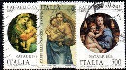 XP1706- REPUBBLICA 1983, Serie Usata . NATALE - 6. 1946-.. Repubblica
