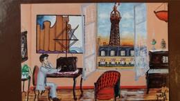 CPM CENTENAIRE TOUR EIFFEL PARIS LEVALLOIS PERRET 1889 1989 ILLUSTRATION DETE APPARTEMENT TELEGRAPHE - Tour Eiffel