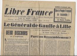 Journal LIBRE FRANCE 19 Juillet 1947 - Giornali