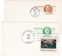 Postal Card : USA   : Patriots : Charles Thomson  & John Witherspoon
